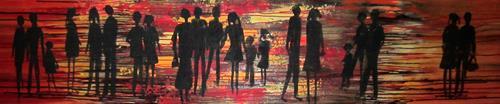 Rose Lamparter, Sonnenuntergang, Abstraktes, Abstrakte Kunst, Abstrakter Expressionismus
