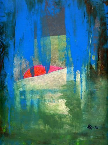 Roswitha Klotz, Overpainted Picture - Untitled, Abstraktes, Gegenwartskunst, Expressionismus