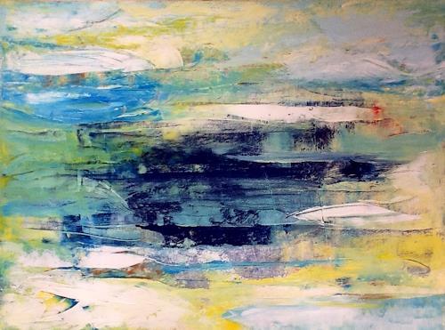 Roswitha Klotz, Flowing 70/9, Abstraktes, Bewegung, Moderne
