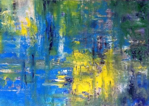 Roswitha Klotz, oT - Spring 70/26, Abstraktes, Natur: Wasser, Colour Field Painting, Abstrakter Expressionismus