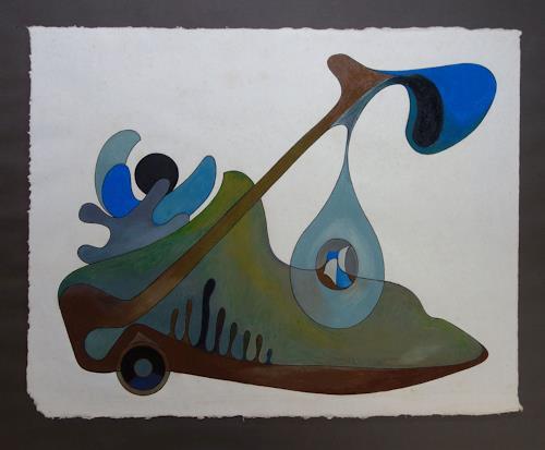 Roswitha Klotz, Waiting, Skurril, Abstraktes, Postsurrealismus