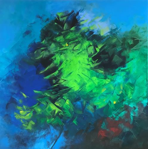 Roswitha Klotz, Green Sounds, Natur, Diverse Pflanzen, Abstrakte Kunst, Expressionismus