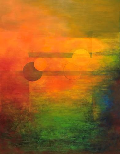 Roswitha Klotz, Hot Summer  IV, Gefühle, Natur: Diverse, Neo-Impressionismus, Expressionismus