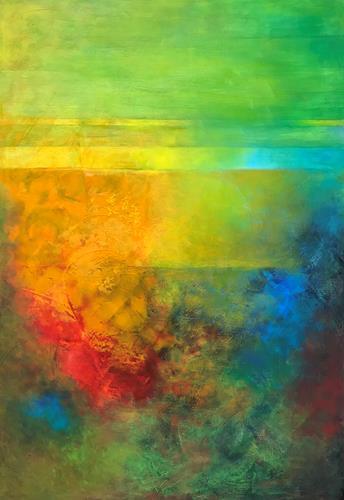 Roswitha Klotz, Summer V, Abstraktes, Natur, Abstrakte Kunst, Expressionismus