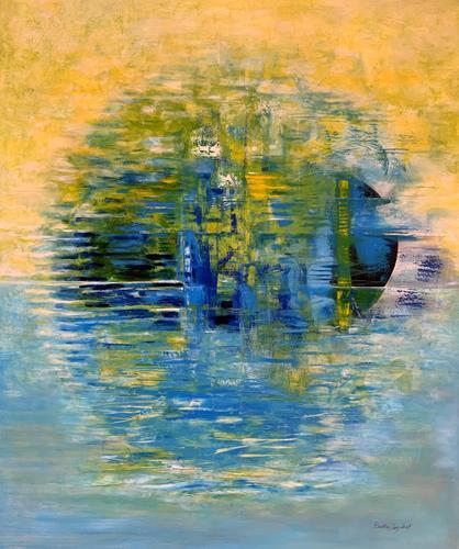Roswitha Klotz, Into the Blue, Abstraktes, Natur, Informel