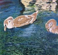 Reto-Brueesch-Tiere-Wasser-Moderne-Impressionismus-Neo-Impressionismus