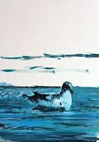 Reto-Brueesch-Tiere-Wasser-Landschaft-See-Meer-Moderne-Impressionismus-Postimpressionismus