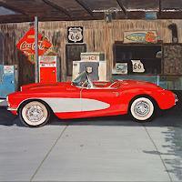 Reto-Brueesch-Verkehr-Auto-Geschichte-Moderne-Fotorealismus