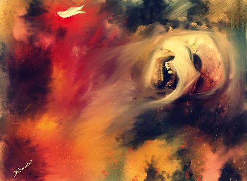 Delawer Omar, a face from my homeland, Abstraktes, Land-Art, Abstrakter Expressionismus