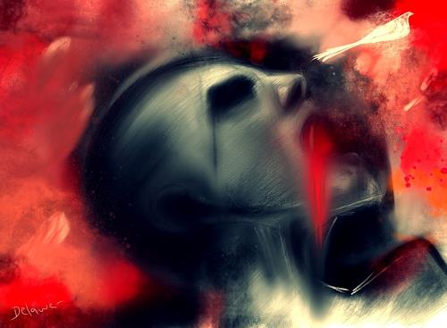 Delawer Omar, scream of the freedom, Abstraktes, Abstrakter Expressionismus