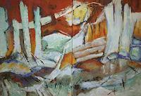 Gabriele-Schmalfeldt-Landschaft-Winter-Natur-Diverse-Moderne-Expressionismus-Abstrakter-Expressionismus