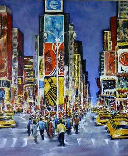 Gabriele Schmalfeldt, Times Square, Wohnen: Stadt, Diverse Menschen, Gegenwartskunst