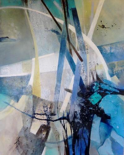 Gabriele Schmalfeldt, Bewegende Kraft, Abstraktes, Natur: Wasser, Abstrakte Kunst