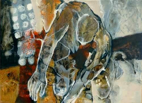 Gabriele Schmalfeldt, o.T., Menschen, Abstraktes, Abstrakte Kunst, Abstrakter Expressionismus