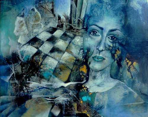 Gabriele Schmalfeldt, Spiel der Könige, Diverse Menschen, Spiel, Gegenwartskunst, Abstrakter Expressionismus