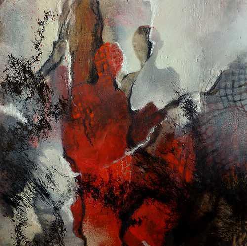 Gabriele Schmalfeldt, o.T., Menschen: Paare, Abstraktes, Abstrakte Kunst, Abstrakter Expressionismus