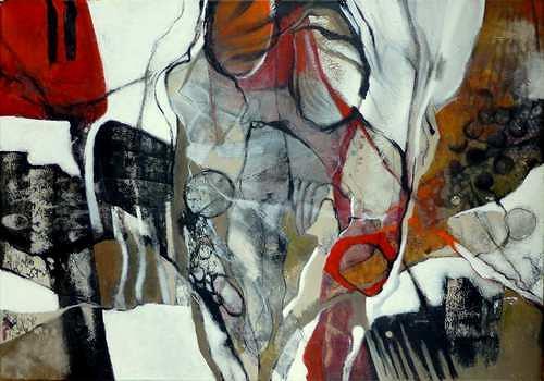 Gabriele Schmalfeldt, Im Rampenlicht, Abstraktes, Diverse Menschen, Gegenwartskunst, Expressionismus