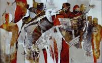 Gabriele-Schmalfeldt-Menschen-Gruppe-Abstraktes-Gegenwartskunst-Gegenwartskunst