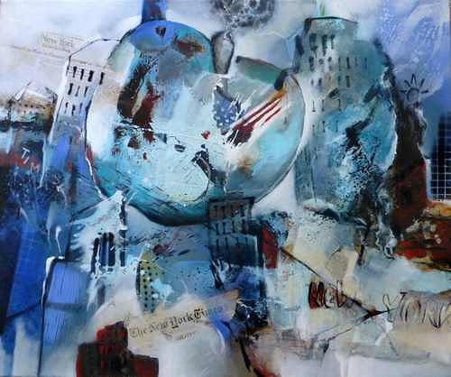 Gabriele Schmalfeldt, big apple, Architektur, Wohnen, Moderne, Abstrakter Expressionismus