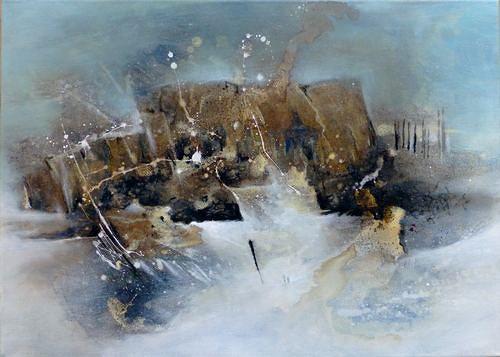Gabriele Schmalfeldt, o.T., Landschaft, Abstraktes, Gegenwartskunst, Abstrakter Expressionismus