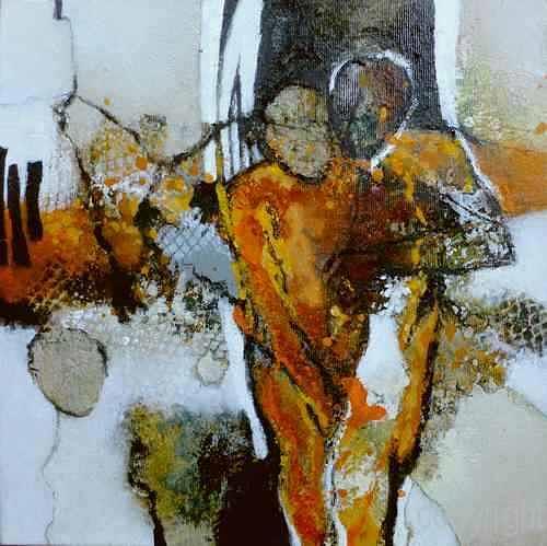 Gabriele Schmalfeldt, o.T., Menschen: Paare, Abstraktes, Gegenwartskunst, Abstrakter Expressionismus