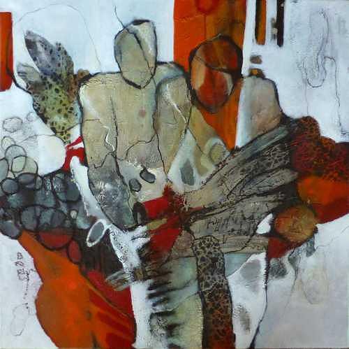 Gabriele Schmalfeldt, o.T., Menschen: Paare, Gesellschaft, Gegenwartskunst, Abstrakter Expressionismus