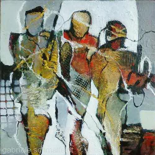 Gabriele Schmalfeldt, o.T., Menschen: Gruppe, Gesellschaft, Gegenwartskunst, Abstrakter Expressionismus