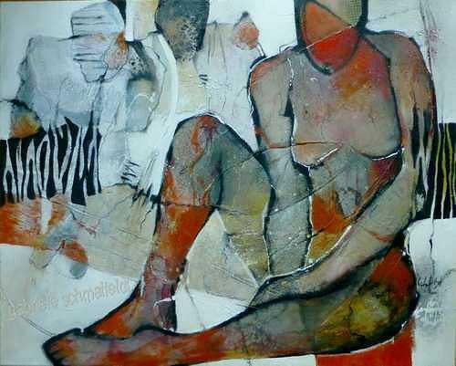 Gabriele Schmalfeldt, o.T., Diverse Menschen, Abstraktes, Gegenwartskunst, Abstrakter Expressionismus