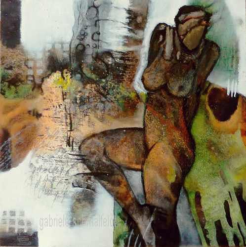 Gabriele Schmalfeldt, o.T., Menschen: Frau, Akt/Erotik, Gegenwartskunst, Abstrakter Expressionismus