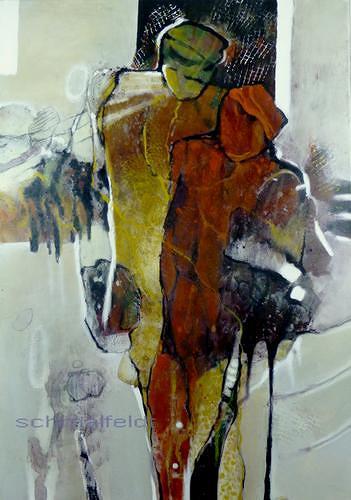 Gabriele Schmalfeldt, o.T., Diverse Menschen, Gesellschaft, Abstrakter Expressionismus
