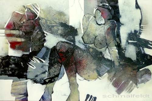 Gabriele Schmalfeldt, o.T., Diverse Menschen, Gesellschaft, Abstrakte Kunst, Abstrakter Expressionismus