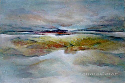 Gabriele Schmalfeldt, o.T. 04/19, Landschaft: See/Meer, Natur: Diverse, Gegenwartskunst