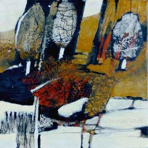 Gabriele Schmalfeldt, o.T. 05/19, Landschaft: Herbst, Pflanzen: Bäume, Gegenwartskunst, Expressionismus