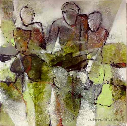 Gabriele Schmalfeldt, o.T. 06/19, Menschen: Gruppe, Abstraktes, Gegenwartskunst, Abstrakter Expressionismus
