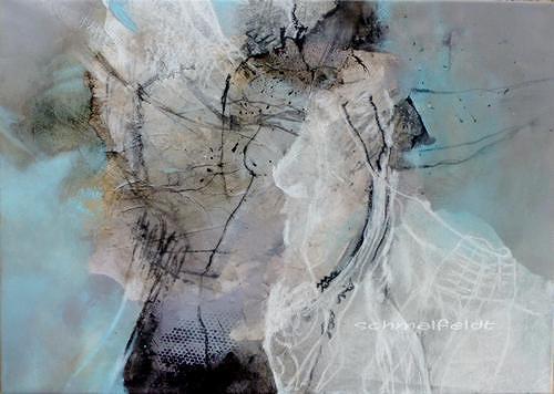 Gabriele Schmalfeldt, o.T. 08/19, Menschen, Abstraktes, Gegenwartskunst, Expressionismus