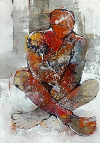 Gabriele Schmalfeldt, o.T. 09/19, Abstraktes, Menschen: Mann, Gegenwartskunst, Expressionismus
