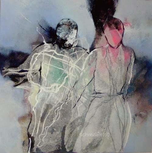 Gabriele Schmalfeldt, o.T. 13/19, Menschen: Paare, Diverse Gefühle, Abstrakte Kunst, Abstrakter Expressionismus
