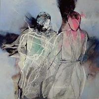 Gabriele-Schmalfeldt-Menschen-Paare-Diverse-Gefuehle-Moderne-Abstrakte-Kunst
