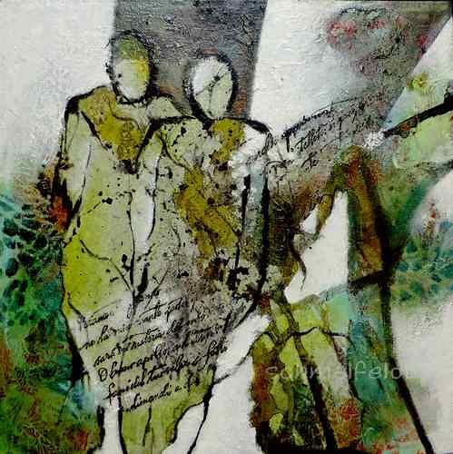 Gabriele Schmalfeldt, o.T. 18/19, Menschen: Paare, Gesellschaft, Abstrakte Kunst, Abstrakter Expressionismus