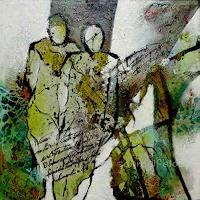 Gabriele-Schmalfeldt-Menschen-Paare-Gesellschaft-Moderne-Abstrakte-Kunst