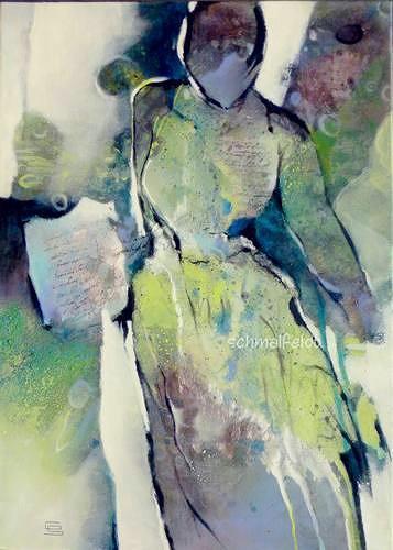 Gabriele Schmalfeldt, o.T. 19/19, Menschen: Frau, Situationen, Abstrakte Kunst, Expressionismus
