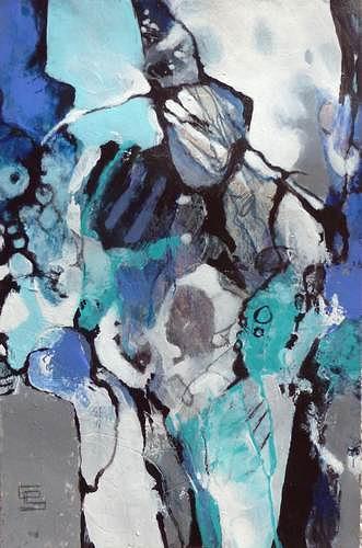Gabriele Schmalfeldt, o.T. 25/19, Diverse Gefühle, Menschen, Abstrakte Kunst