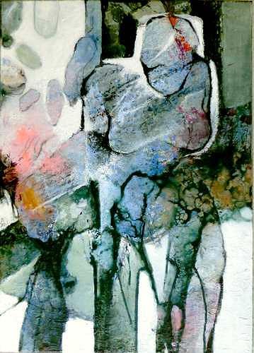 Gabriele Schmalfeldt, o.T. 06/20, Abstraktes, Menschen, Abstrakte Kunst, Abstrakter Expressionismus