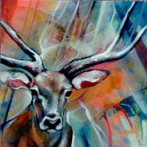 Gabriele Schmalfeldt, o.T. 07/20, Natur: Wald, Tiere: Land, Abstrakte Kunst, Expressionismus