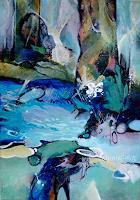 Gabriele-Schmalfeldt-Natur-Wald-Natur-Wasser-Moderne-Expressionismus-Abstrakter-Expressionismus
