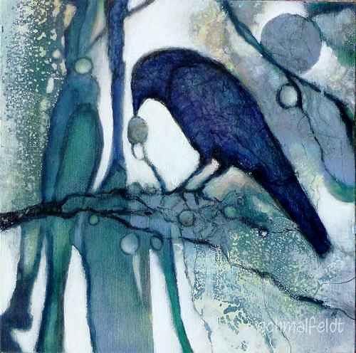 Gabriele Schmalfeldt, o.T. 11/20, Tiere: Luft, Natur: Wald, Gegenwartskunst, Expressionismus