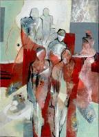Gabriele-Schmalfeldt-Menschen-Gruppe-Architektur-Moderne-Abstrakte-Kunst