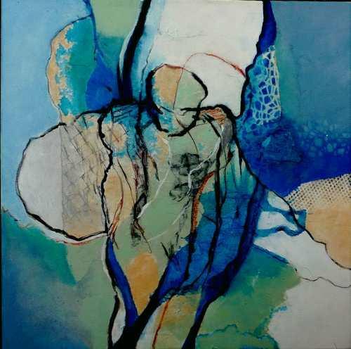 Gabriele Schmalfeldt, o.T. 31/20, Menschen, Abstraktes, Abstrakte Kunst, Expressionismus