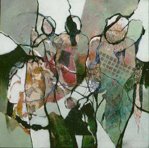Gabriele Schmalfeldt, o.T. 32/20, Menschen: Gruppe, Situationen, Abstrakte Kunst, Expressionismus