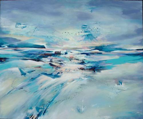 Gabriele Schmalfeldt, Landscape, Landschaft: Winter, Abstraktes, Gegenwartskunst, Expressionismus